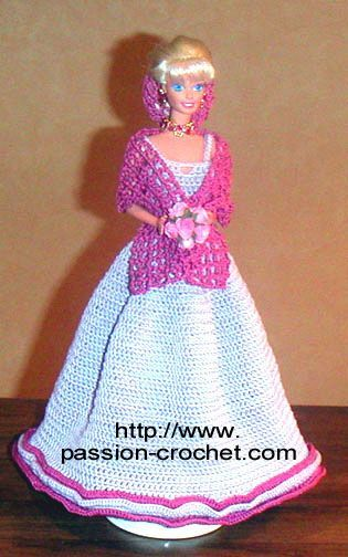 Robes de soirée au crochet pour Barbie