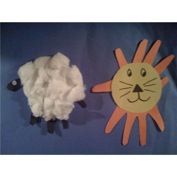 Lion Lamb Preschool Craft
