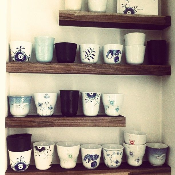 Collection of Royal Copenhagen mugs by @precht_