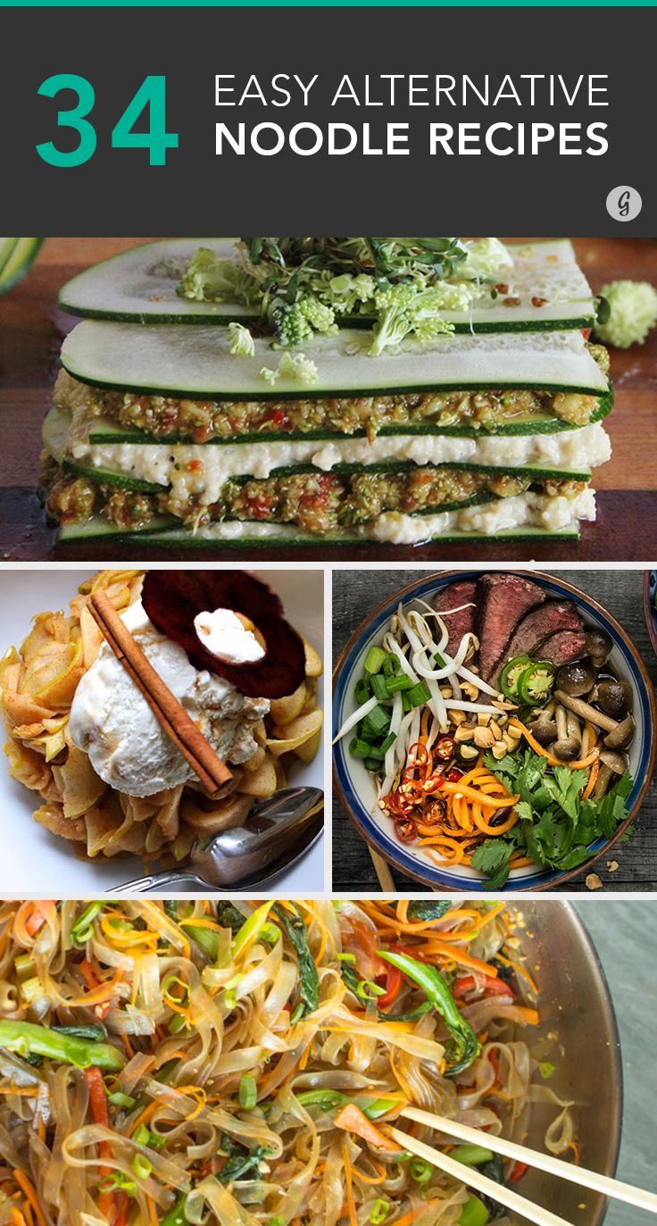34 Alternative Noodle Recipes That Pasta Fanatics Will Love #recipes #pasta #spiralize
