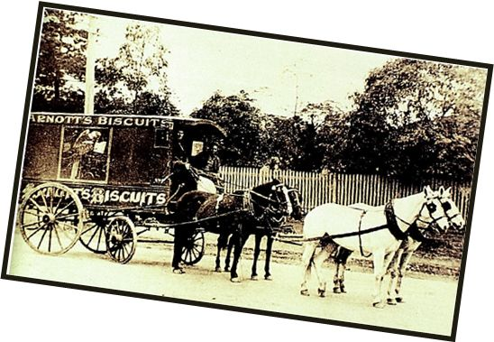 Our iconic Arnott's vehicles have a long #history, just like our products - take a look at our Arnott's 19th century horse-drawn cart! History NSW
