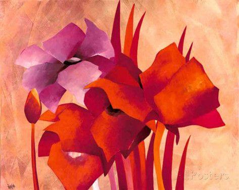 Colourful Flowers II Posters van Gisela Funke bij AllPosters.nl