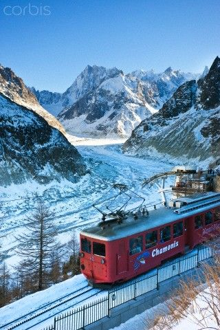 Train du Montenvers by Mer de Glace, Chamonix, Haute Savoie, French Alps, France, Europe