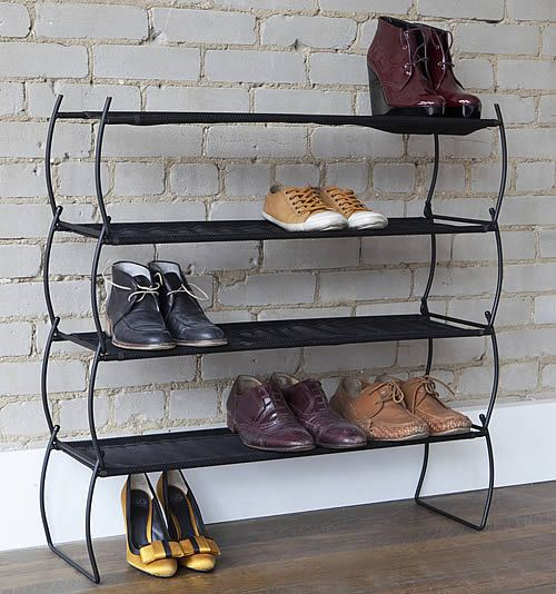 2 x Imelda Shoe Racks - www.aplaceforeverything.co.uk    Narrow enough to put in a hallway, and maybe put a basket on to put junk mail in for recycling