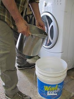 homemade laundry detergent for HE washers using my favorite essential oils...