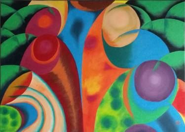 "Saatchi+Art+Artist+Sanna+Huusko;+Painting,+""Palms/Palmut""+#art"
