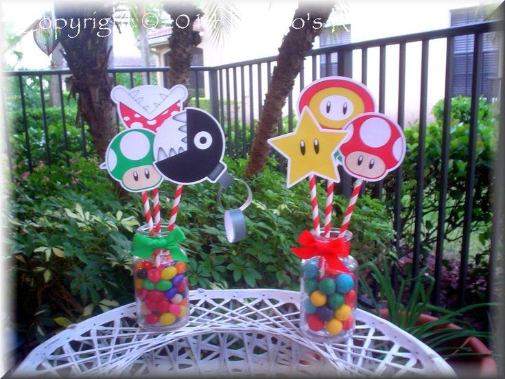 Mario Bros. Party Centerpieces