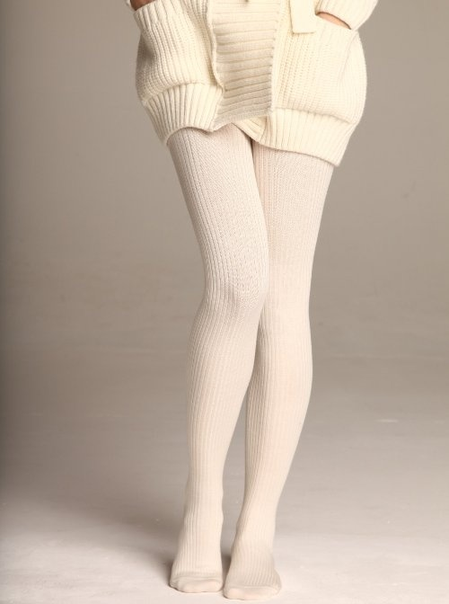 Buy Women's Winter Cotton Cable Knit Sweater Footed Tights (S/M, Black) and. and she was wearing white cable knit tights – the cutest thing I'd ever seen! Women Winter Cable Knit Sweater Footed Tights Stretch Stockings Pantyhose Solid. $