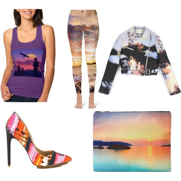 Sunset outfit by nshkoukani on Polyvore featuring polyvore, fashion, style, Mary Katrantzou, GX and Forever 21