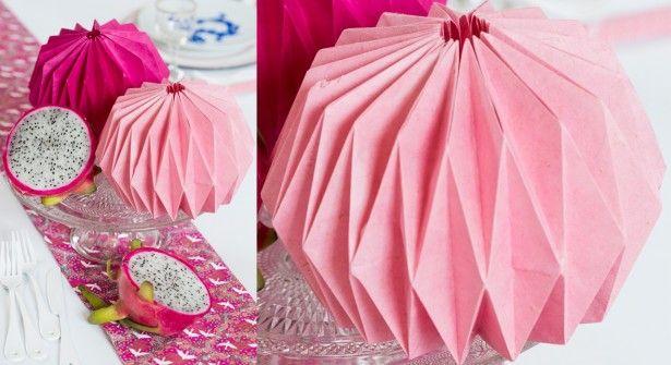 un lampion en origami...