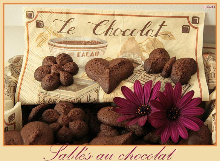 sablés au chocolat-presse à biscuits-FleurdÔ