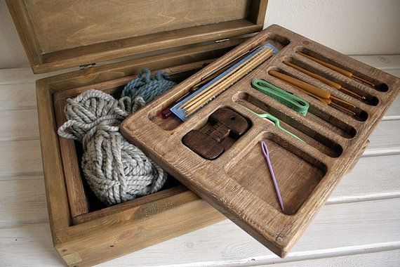 Free Shipping. Knitting Storage Box for Knitting by eagleinwood                                                                                                                                                                                 More