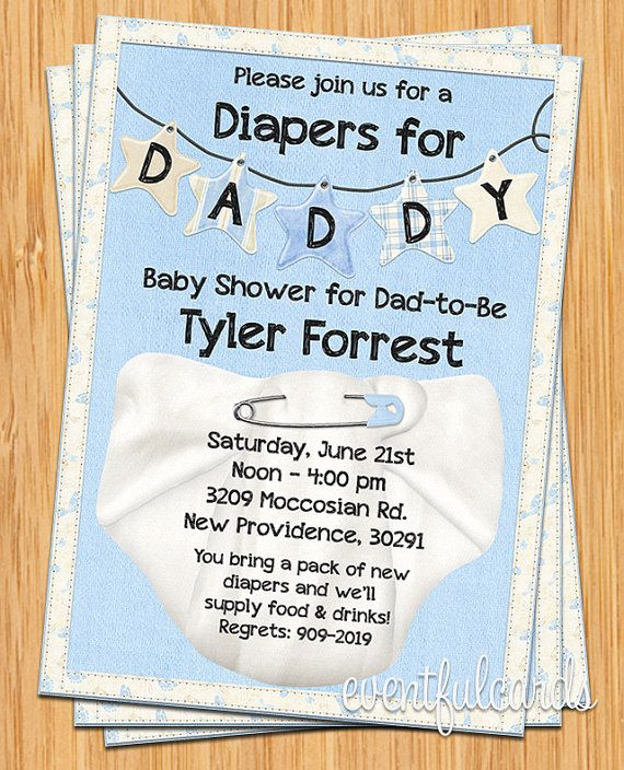 Diapers for Daddy Baby Shower Invitation by eventfulcards