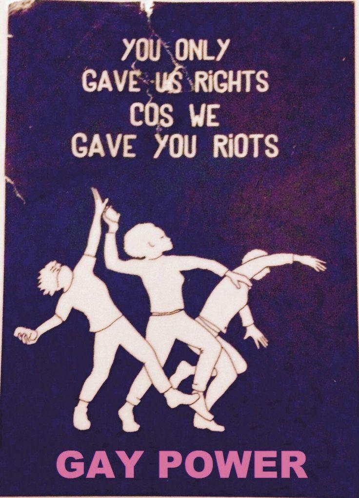 Adayinthelesbianlife the first pride was a riot wall sticker in marlborough lesbian pub brighton