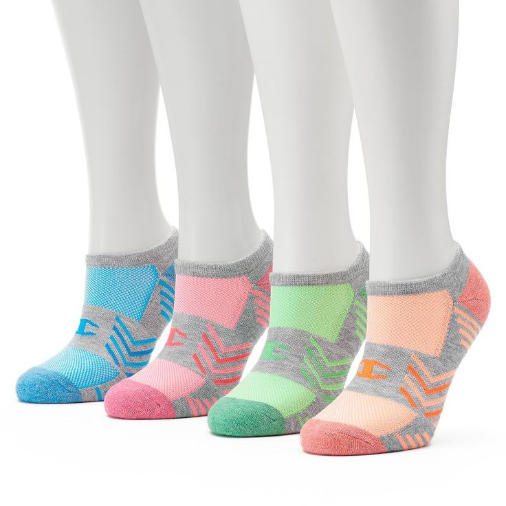 Women's Champion 4-pk. Performance No-Show Socks, Multicolor