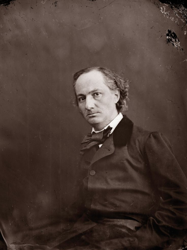 Charles BAUDELAIRE by Nadar Happy birthday, Charles Baudelaire, born 9 April…