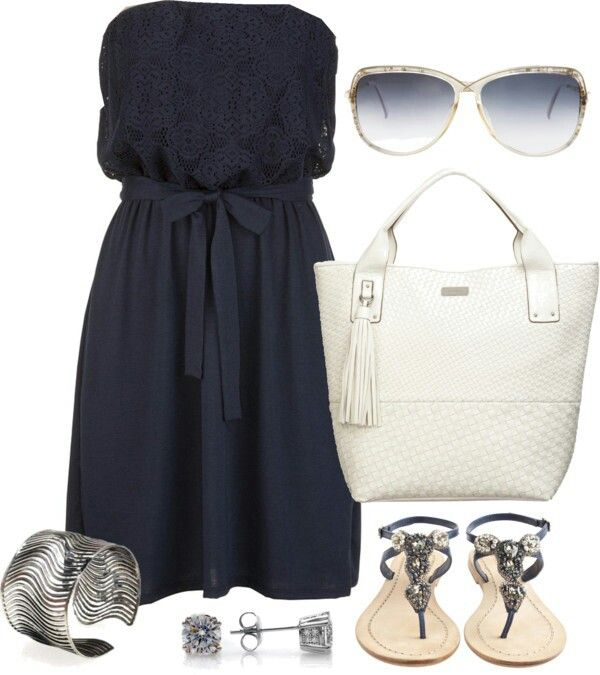 LOve..Navy , white and silver