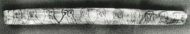 A rune stick from the Wharf in Bergen testifies to a mischievous use of runic writing. The lines in the beards of these men comprise a messa...