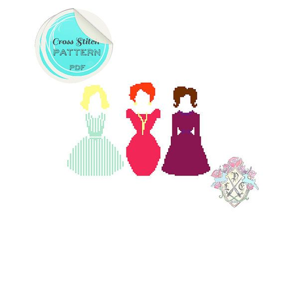 This playful cross stitch pattern features the three leading ladies (Betty Draper, Joan Holloway, and Peggy Olsen) of Mad Men and their
