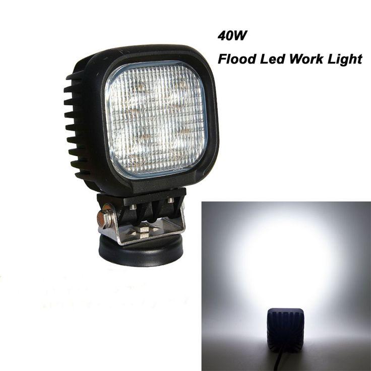 "(38.04$)  Watch now  - ""5"""" inch 40 Watt CREE Flood 3500 Lumens LED Work Auxiliary Light for 12V 24V RZR 4x4 Off Road Jeep UTV ATV  Led Flood Light"""
