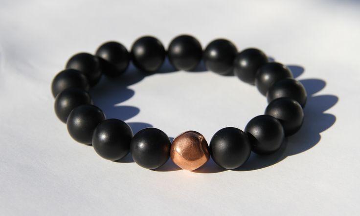 Copper & Black Onyx Bracelet