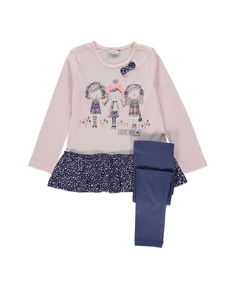 Little Cutie Dress and Leggings Set | Girls | George at ASDA