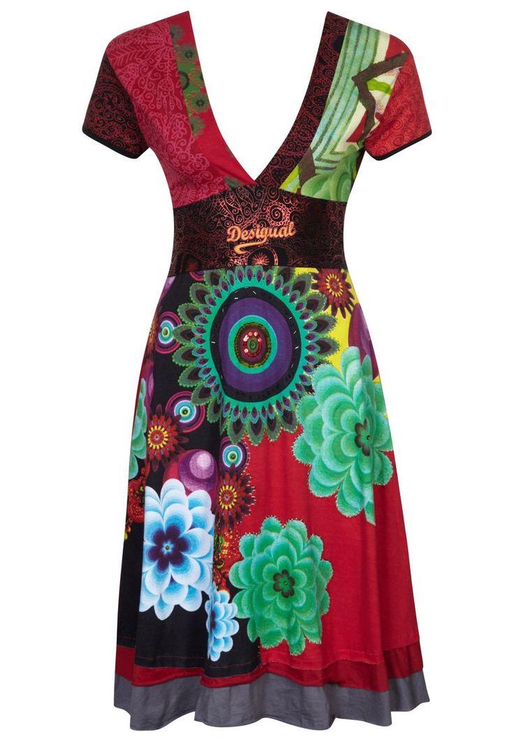 Desigual - OSLO - Vestido de algodón - rojo