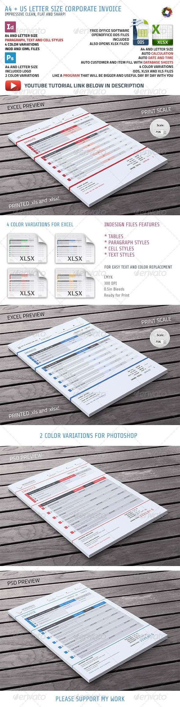 17 best images about invoice design on pinterest | creative, Invoice templates
