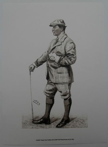 $15.50  Golf ART Print Vanity Fair Golfers III BY SPY | eBay
