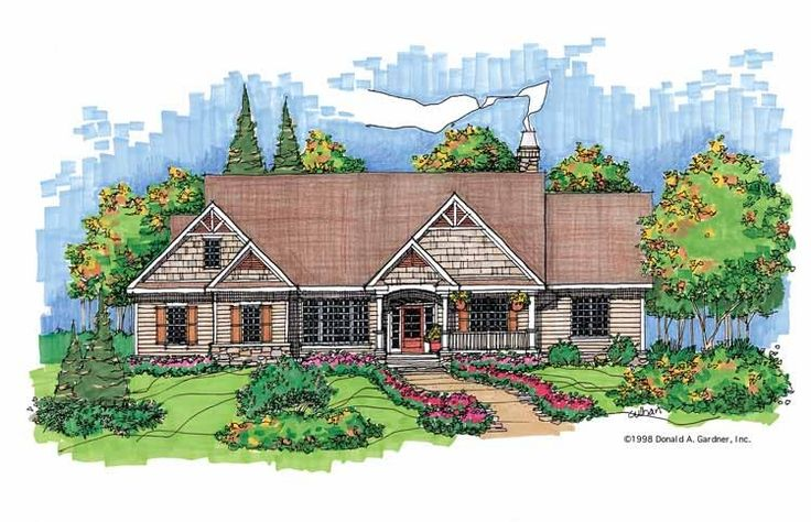 Eplans bungalow house plan hillside views 2998 square for Hillside lake house plans
