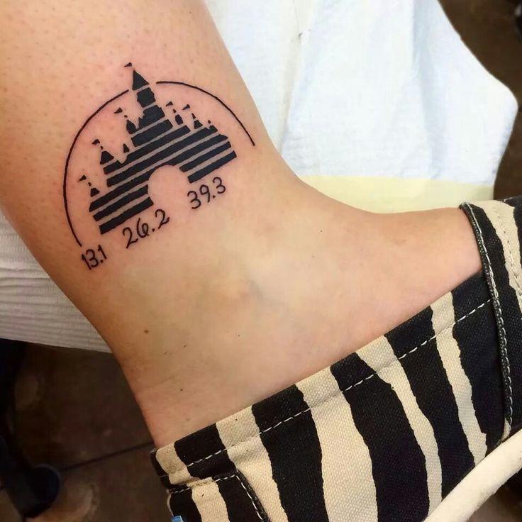 Disney run tattoo