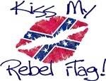 Kiss my Rebel Flag by Fried Green Awesome