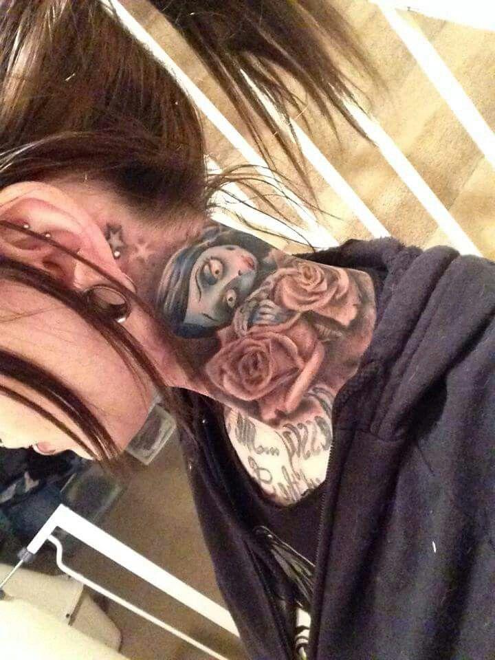 Corpse Bride Neck tattoo                                                       …