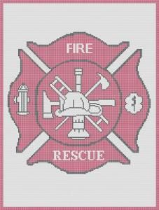 CROCHET PATTERN PINK MALTESE CROSS FIREFIGHTER AFGHAN GRAPH E-MAILED.PDF BUY 1 PATTERN GET 1 FREE by crochetpatternsetc