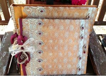 Matching photo album and guest book