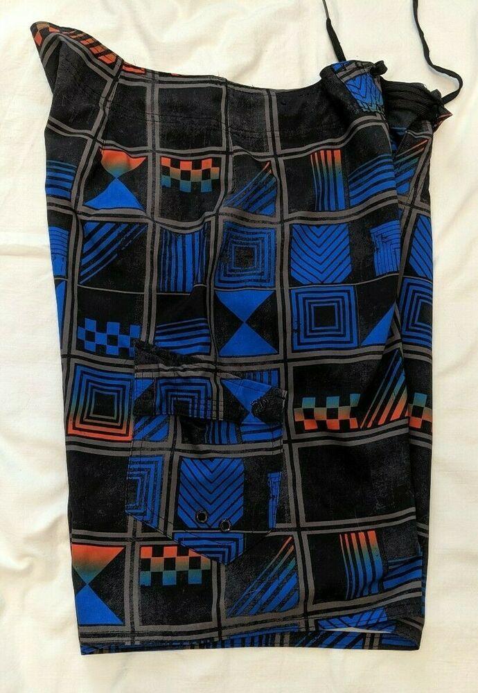 b1f648f62e898 (eBay Sponsored) HANG TEN MENS SIZE 34 BLUE/BLACK/GREY/ORANGE