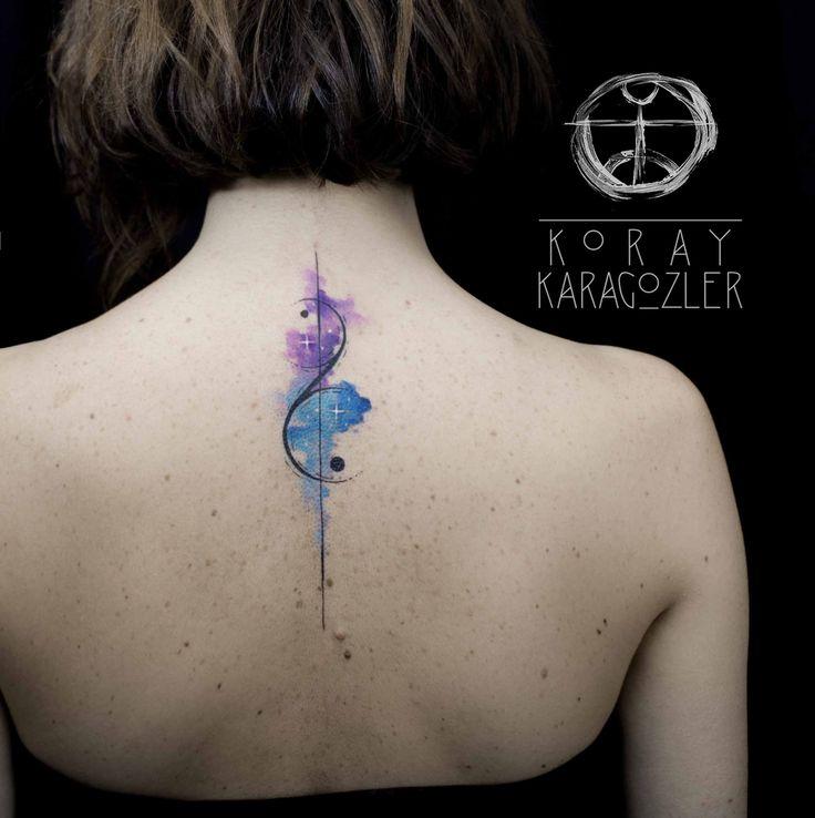 Gemini abstract tattoo