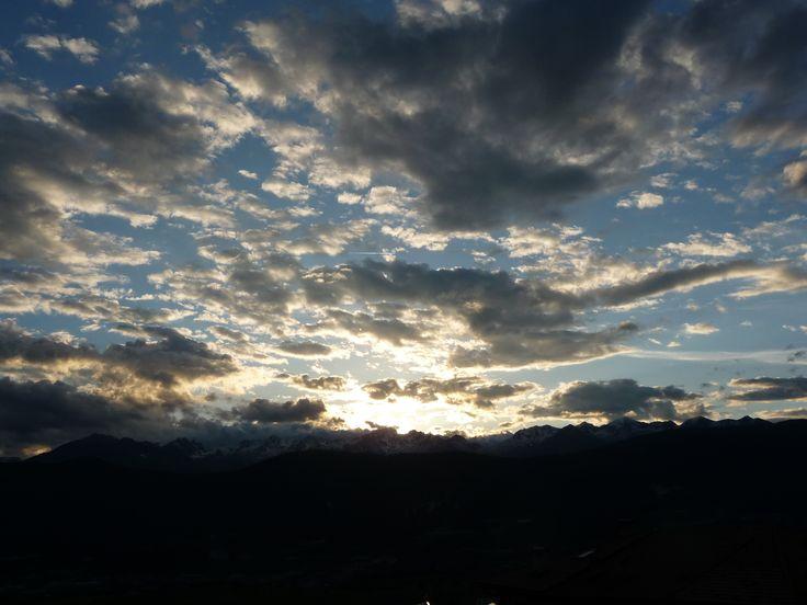 Val di Non, tramonto sulle Maddalene