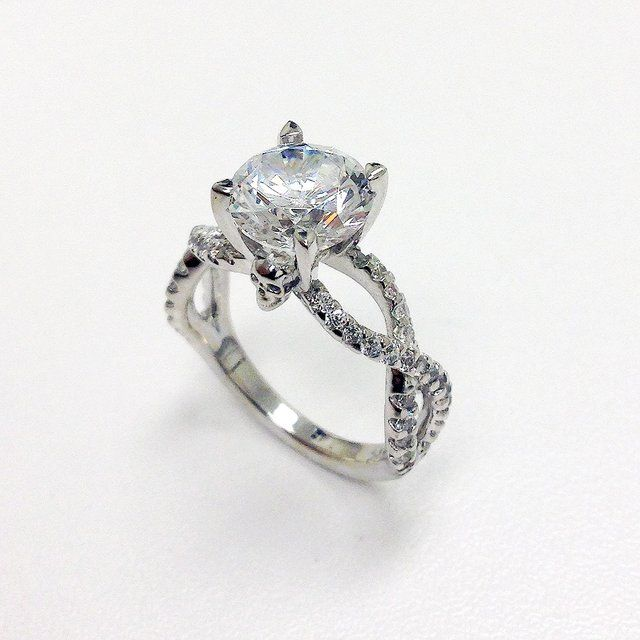 Skull Head Engagement / Wedding Ring..... love love love love..... still get the engagement ring with a lil hidden skull