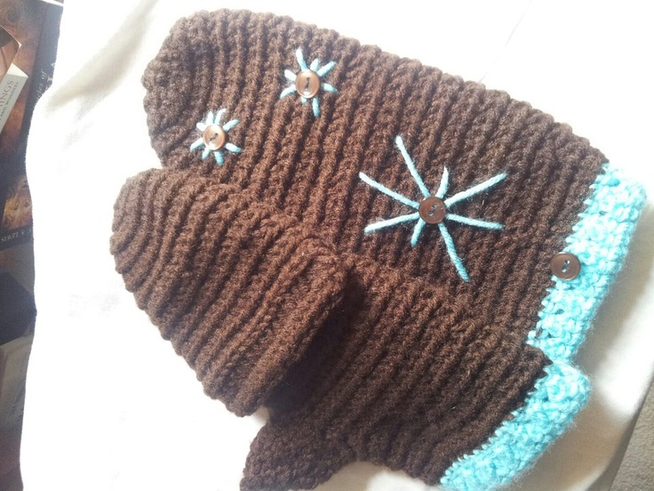 Knitting Pattern For Flip Top Mittens : flip top mittens Crochet n Craftin :) Pinterest Tops and Mittens