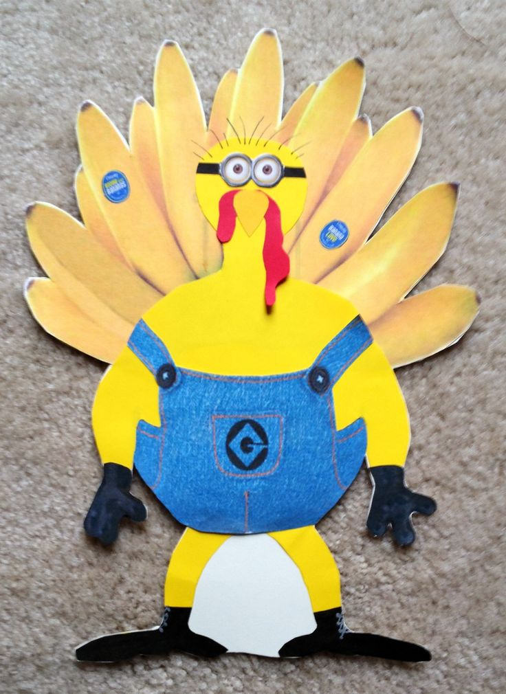 Turkey Disguise Project:  I am not a Turkey! I am a Minion who works for Gru Industries and LOVES bananas.