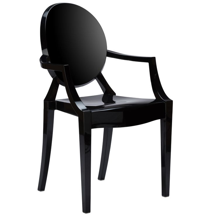 detailsa chic take on the ghost dcor trend this stackable dining chair is made from