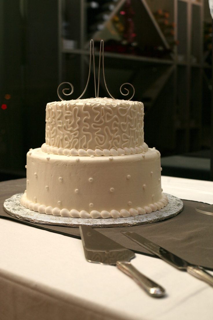 simple silver wedding cake ideas 25th anniversary cake simple buttercream add silver 20018