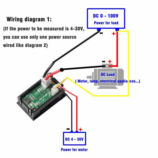 Dc 0 100v Red Blue Led 10a Dual Digital Panel Amp Volt Gauge Voltmeter Ammeter I For Sale Ebay Volt Ampere Diy Amplifier Digital Ammeter