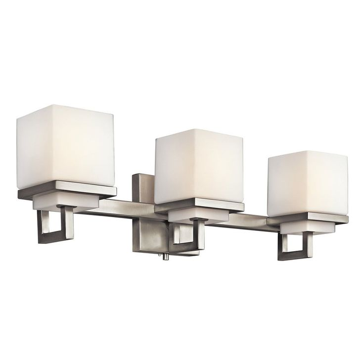 Kichler Lighting 3-Light Metro Park Brushed Nickel Modern Vanity Light $280