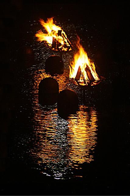 stunning waterfire... Providence RI