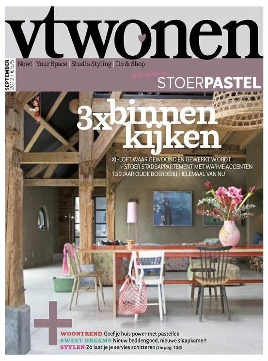 vtwonen cover september 2012 #magazine #interior