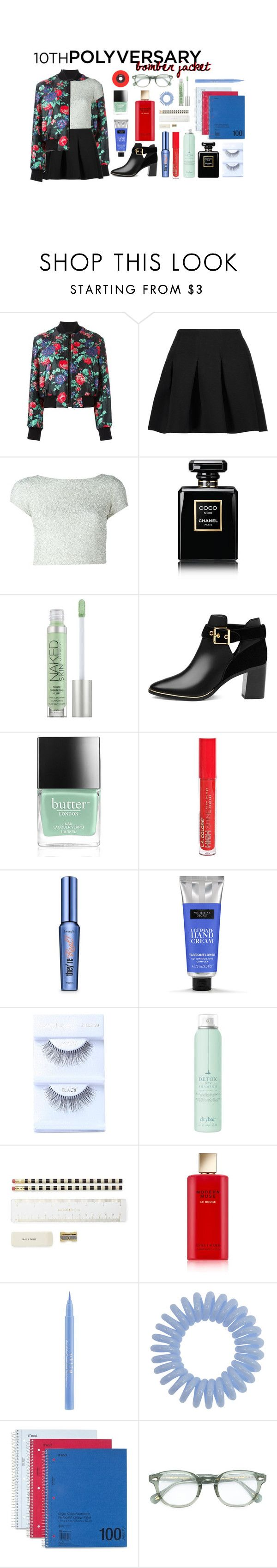 """""""Celebrate Our 10th Polyversary!"""" by fernweeh on Polyvore featuring moda, MSGM, T By Alexander Wang, Alice + Olivia, Chanel, Urban Decay, Ted Baker, Butter London, L.A. Colors i Benefit"""