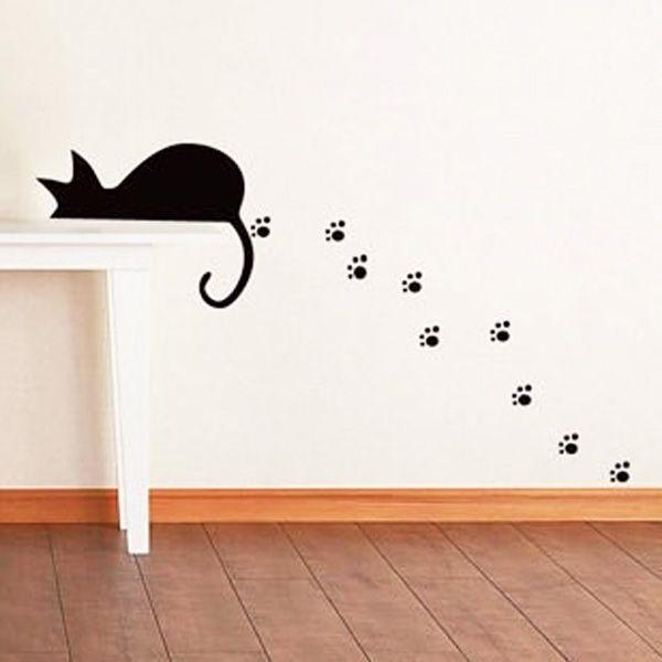 Lovely lazy cat Animal pattern Wall sticker