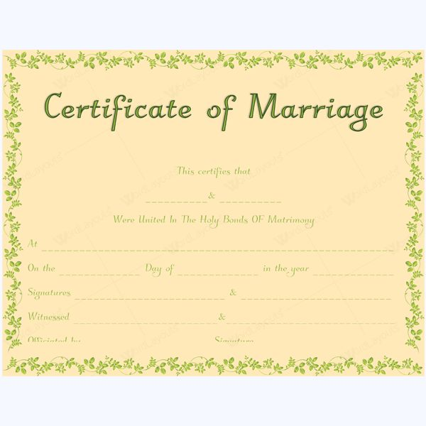 68 best Marriage Certificate Templates images on Pinterest - certificate border word